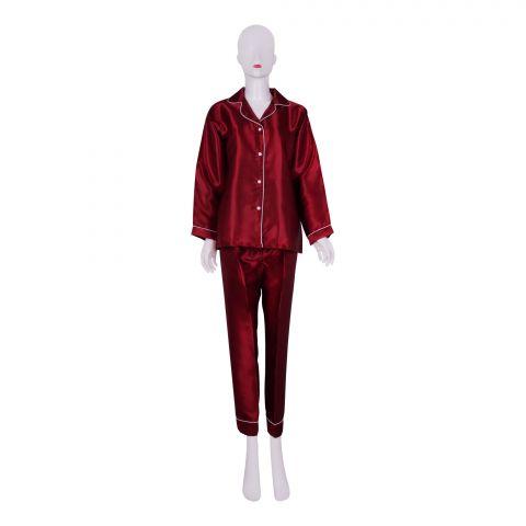 IFG Women's Pajama Set, Maroon, PS-104