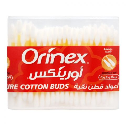 Orinex Double Tip Cotton Buds, 100-Pack