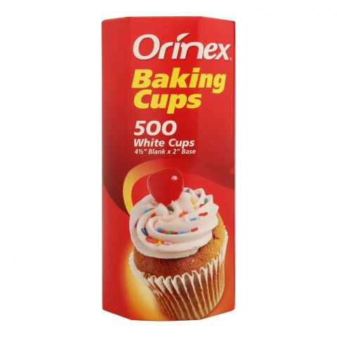 Orinex Baking Cups, White, 500-Pack
