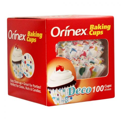 Orinex Baking Cups, Deco, 100-Pack