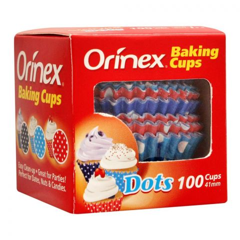 Orinex Baking Cups, Dots, 100-Pack