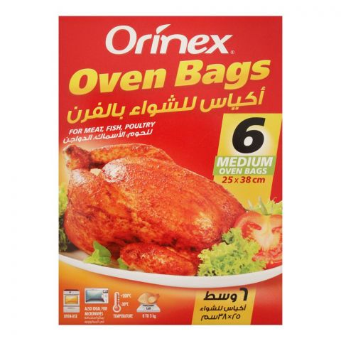 Orinex Oven Bags, Medium, 6-Pack