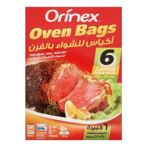 Orinex Oven Bags, Large, 6-Pack