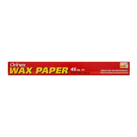Orinex Wax Paper, 45 Sqft