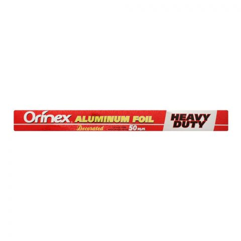 Orinex Aluminum Foil Decorated, 50 Sqft