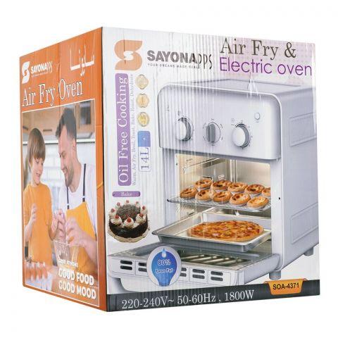 Sayona Air Fryer & Electric Oven, 14L, 1800W, SOA-4371