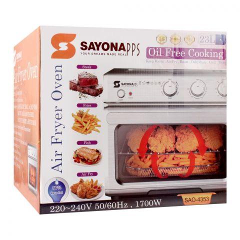 Sayona Air Fryer Oven, 23 Liters, SAO-4353
