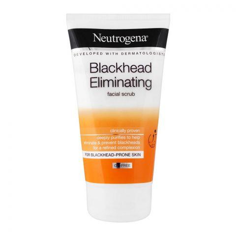 Neutrogena Blackhead Eliminating Oil-Free Facial Scrub, 150ml