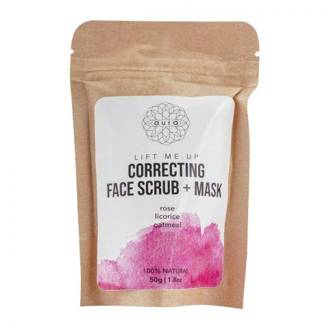 Aura Lift Me Up Correcting Face Scrub + Mask, 50g