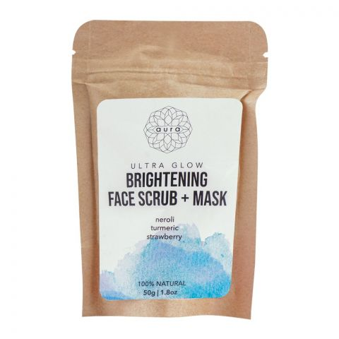 Aura Ultra Glow Brightening Face Scrub + Mask, 50g