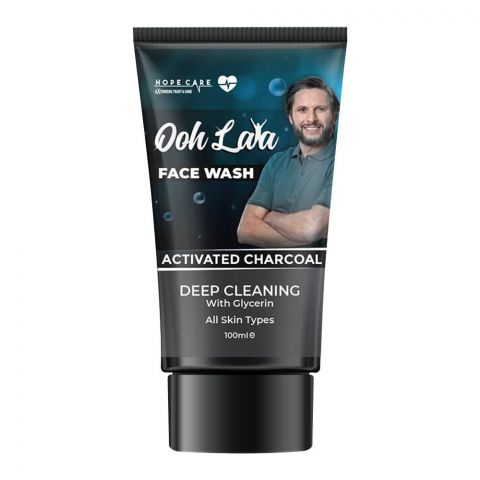 Ooh Lala Activated Charcoal Face Wash, All Skin Types, 100ml