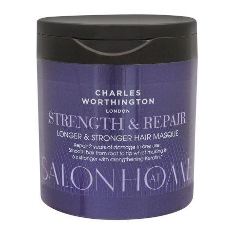 Charles Worthinton Salon At Home Strength & Repair Longer & Stronger Hair Masque, 160ml