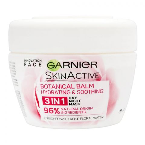 Garnier Skin Active Hydrating & Soothing 3-In-1 Botanical Balm Day/Night Face Mask, 150ml