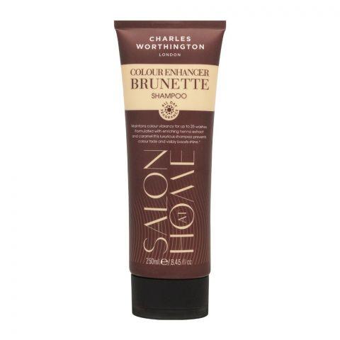 Charles Worthinton Salon At Home Colour Enhancer Brunette Shampoo, 250ml