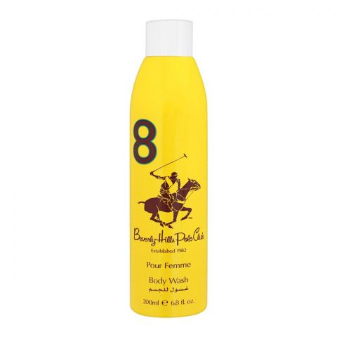 Beverly Hills Polo Club 8 Pour Femme Body Wash, 200ml