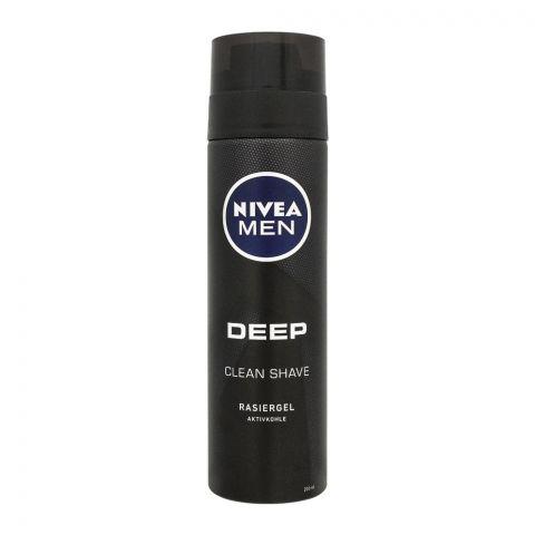 Nivea Men Deep Clean Shave Shaving Gel, 200ml