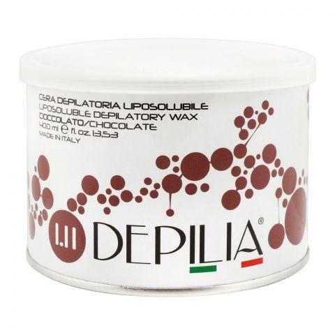 Depilia Chocolate 1.11 Liposoluble Depilatory Wax, 400ml
