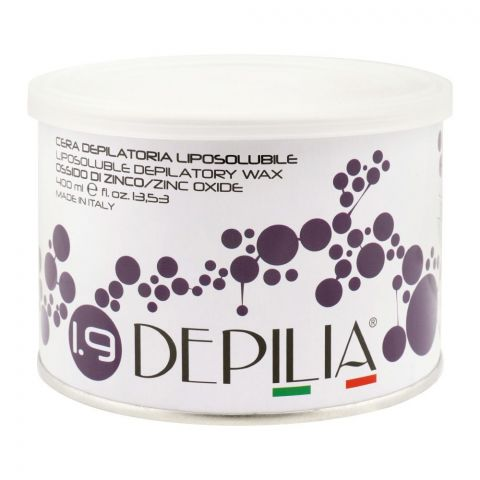 Depilia Zinc Oxide 1.9 Liposoluble Depilatory Wax, 400ml
