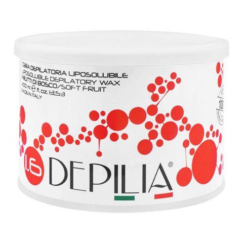 Depilia Soft Fruit 1.6 Liposoluble Depilatory Wax, 400ml