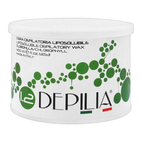 Depilia Chlorophyll 1.2 Liposoluble Depilatory Wax, 400ml