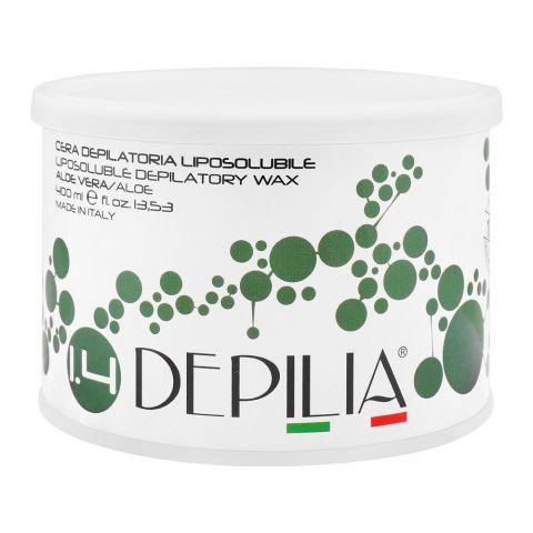 Depilia Aloe Vera 1.4 Liposoluble Depilatory Wax, 400ml
