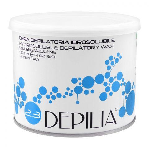 Depilia Azulene 2.3 Hydrosoluble Depilatory Wax, 500ml