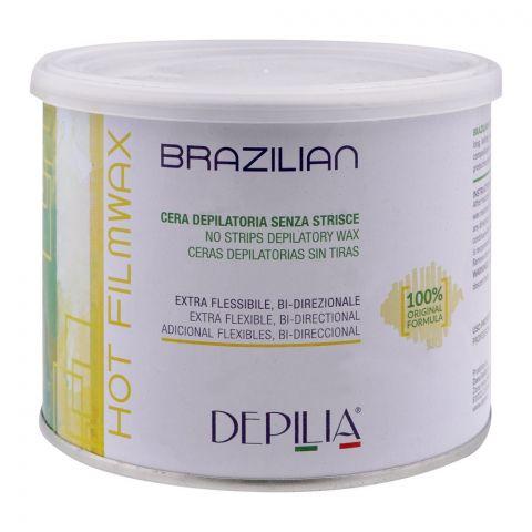 Depilia Brazilian Hot Filmwax, No Strips Depilatory Wax, 500ml