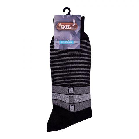 Gol Men's Cotton Sock, C-1, Black