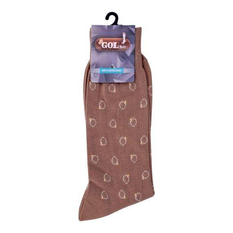 Gol Men's Cotton Sock, C-1, Beige