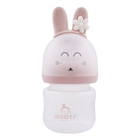 Roots Natural Anti-Colic Feeding Bottle, 0m+, Small, 100ml, Flower, M01