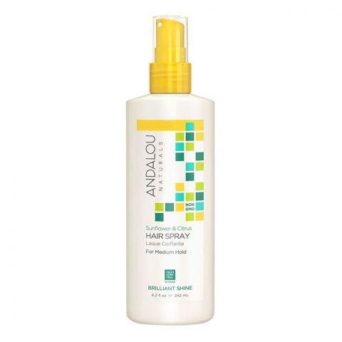 Andalou Sunflower & Citrus Medium Hold Hair Spray, 242ml