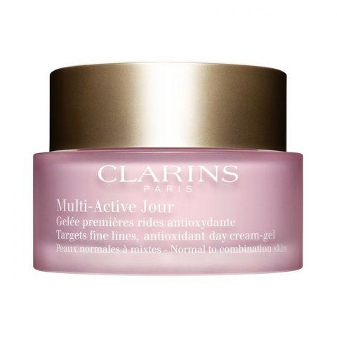 Clarins Paris Multi-Active Jour Anti Oxidant Day Cream Gel, Normal To Combination Skin, 50ml