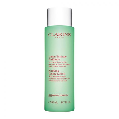 Clarins Paris Purifying Toning Lotion, With Meadowsweet & Saffron Flower Extracts, Combination To Oily Skin, 200ml