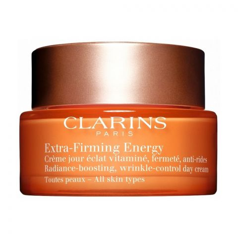 Clarins Paris Extra-Firming Energy Radiance Boosting Wrinkle-Control Day Cream, 50ml