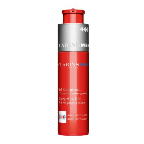 Clarins Paris Men Energizing Gel, With Red Ginseng Extract, 50ml