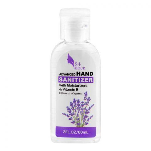 24 Hour Advanced Hand Sanitizer, With Moisturizers & Vitamin E, 60ml