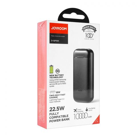 Joyroom Power Delivery 18W Two Way Fast Charging Power Bank, 1000mAh Black D-QP184