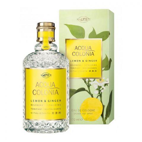 Acqua Colonia Lemon & Ginger Eau De Cologne, Fragrance For Men & Women, 170ml
