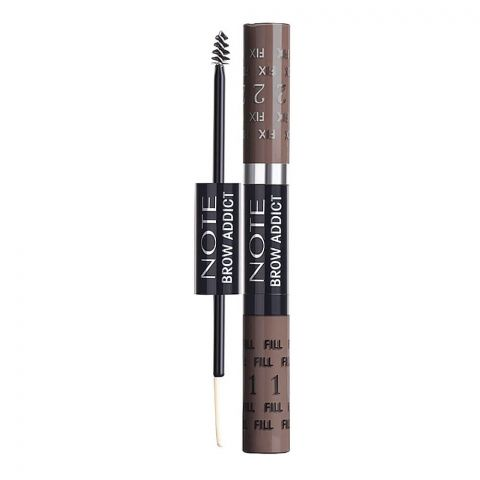 J. Note Brow Addict Tint & Shaping Gel, 04 Grey Brown