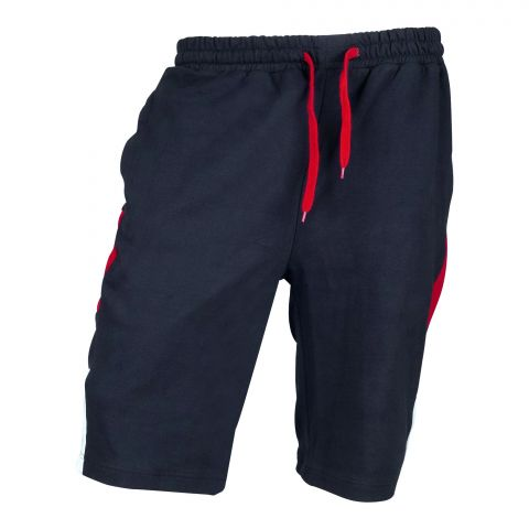 Basix Silid Navy Men's Shorts, Red & White Contrast, MS-502