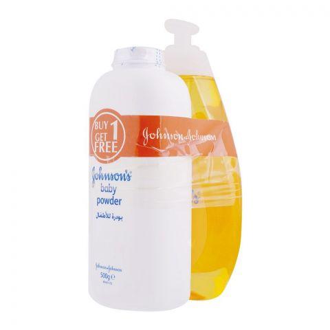 Johnson's Baby Shampoo 750ml + FREE Baby Powder 500g