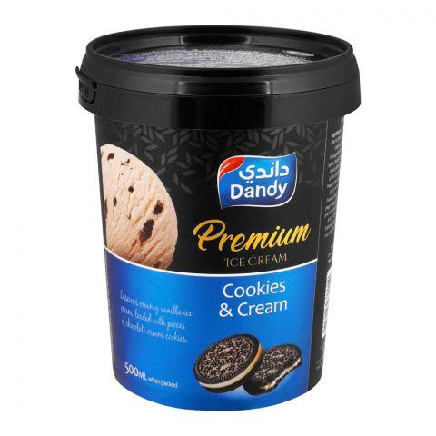 Dandy Premium Cookies & Cream Ice Cream 500ml