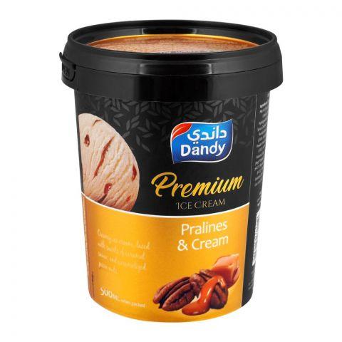 Dandy Premium Pralines & Cream Ice Cream 500ml