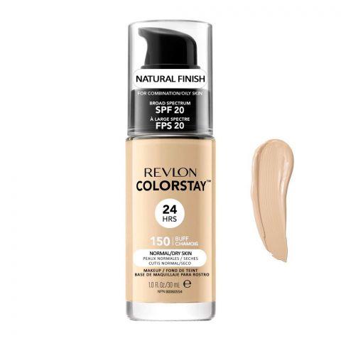 Revlon Colorstay 24H Natural Finish Foundation, Normal/Dry Skin, SPF 20, 150 Buff