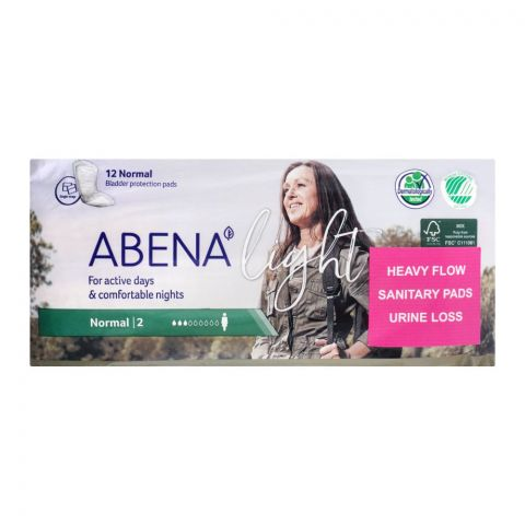 Abena Light Bladder Protection Pads, Normal 2, 12-Pack