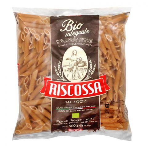 Riscossa Bio Integrale Penne Rigate, No. 27, 500g