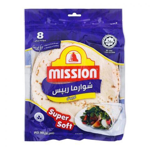 Mission Shawarma Orignal Wraps, 8 Pieces, 360g