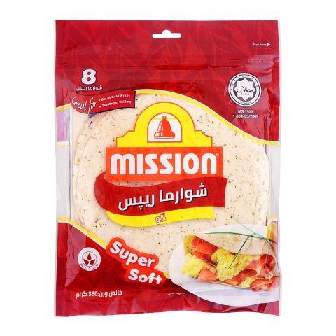 Mission Shawarma Potato Wraps, 8 Pieces, 360g