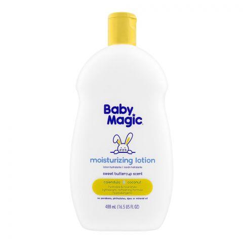 Baby Magic Calendula Coconut Moisturizing Lotion, Sweet Buttercup Scent, Paraben Free, 488ml