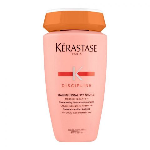 Kerastase Discipline Bain Fluidealiste Gentle Shampoo, For Unruly & Over-Processed Hair, 250ml